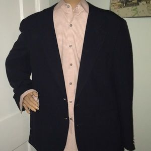 Navy blue Burberry classic sports jacket blazer
